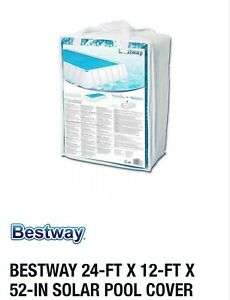 Bestway Solar Swimming Pool Cover, 24-ft x 12-ft x 52-in fit Intex Summer Escape