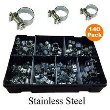 Boîte assortiment de mini pinces tuyau inoxydable 7-17mm Qté 75 at166