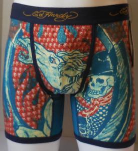 Ed Hardy Boxer Slip Homme Petit Cheval Tatouage Imprimé