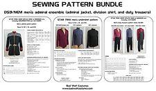 Star Trek Sewing Pattern Bundle - Starfleet admiral uniform - DS9, NEM (men's)