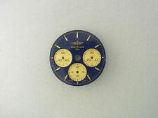 Breitling Callisto Chronomat Lemania Gold blue Dial Zifferblatt blau gold
