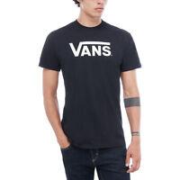 Vans Nuevo Hombre Clásico Camiseta Negra / BNWT Blanco