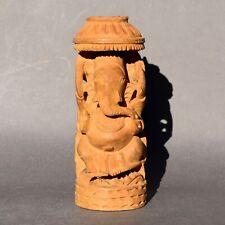 Statue en bois sculpté Dieu éléphant Hindou Ganesh Inde