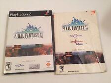Final Fantasy XI Online PS2 PlayStation 2 sealed game & used manual no HD Drive