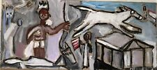 Apollo As Rider Of White Horse Art Painting On Wood 6x12