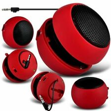 Red Portable Capsule Rechargeable Compact Speaker For Samsung Galaxy S4