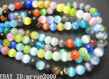FREE TOP 100PCS Bulk Jewelry Mixed Loose Beads Spacer Opal Gemstone Findings 4MM