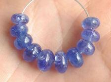 Natural Purple Blue Tanzanite Smooth Rondelle Gemstone Beads 5-7mm.