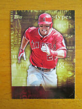 Rare! 2015 Topps Archetypes - NO NAME - MISSING FOIL ERROR - Mike Trout Angels