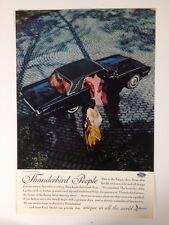 Vintage 1962 Ford Thunderbird Landau Original Print Ad Automobile Black