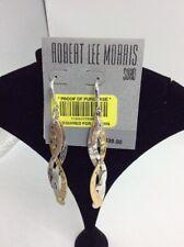 $35   robert lee morris  two  tone drop   earrings ML521