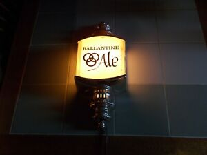 Vintage 60s 1964 Ballantine Ale Beer Electric Lighted Wall Scone Lamp Light Sign