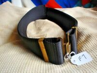 F7 LARGE AUSTRALIAN ARMY NYLON DRESS BELT WITH BRASS SEE ALL PICTURES