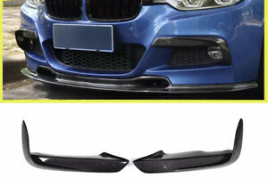 Carbon Fiber Front Bumper Upper Fog Canard Splitter BMW 3 Series F30 F31 320 335