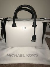 Michael Kors Fulton Black Leather Crossbody Bag Handbag 35T6GFTC7L