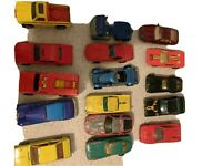 Hot Wheels Lot Of 16 Cars Vintage 1970's & 1980's Toys Collector Items