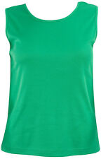 NEW Womens Silhouettes Relaxed Fit Tank Top Kelly Green XL