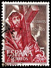 ART PRINT POSTAGE STAMP SPAIN 5 PESETAS JESUS CHRIST CROSS CRUCIFIXION LFMP0148
