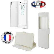 Etui Rabattable Blanc Avec Ouverture Ecran pour Sony Xperia E5