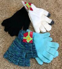 Nwt Girls Black White Blue Multi Color Joe Boxer Texting Gloves 4 Pair