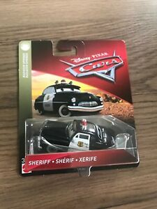 1:55 SHERIFF POLICE CAR  DISNEY PIXAR CARS MOVIE HUDSON MATTEL