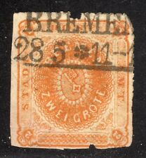 BREMEN STAMP #5 —  2gr COAT OF ARMS —1863 -- USED