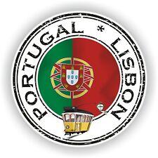 Joint AUTOCOLLANT DU PORTUGAL LISBONNE TIMBRE pare-chocs Cocarde Ordinateur Portable Voiture #01