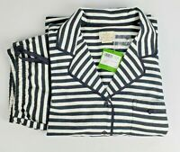 Kate Spade Dream A Little Pajama Set Long Sleeve Striped Black & White Size M