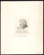 EXLIBRIS,074b -freie Graphik -Rudolf Zenziger -Salzburger Festspiele Mozart 1948