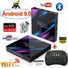 H96 Max RK3318 4+64GB Android 9.0 Smart TV Box WIFI 4K Media Player + Tastatur