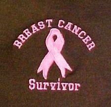 Survivor Sweatshirt M Breast Cancer Pink Ribbon Brown Crew Neck Embroidered New