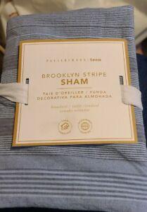 1 Pottery Barn Brooklyn Stripe Standard Sham Blue
