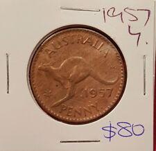1957y.  Australian Penny coin