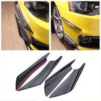 Car modified carbon fiber wind knife common spoiler bumper shunt 4 pieces black