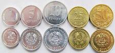 Transnistria Dniester Set 5 Coins, 1, 5, 10, 25, 50 Kopeek, 2000-2005, UNC