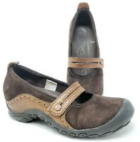 Merrell Womens sz 7 Plaza Bandeau Espresso Brown Suede Leather Mary Jane Shoes