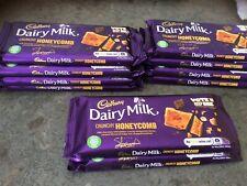 10 X  105g Cadbury Dairy Milk Crunchy Honeycomb With Chopped Hazelnuts