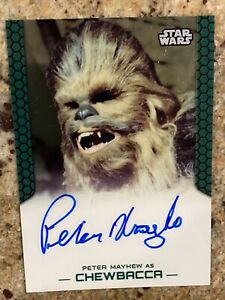 2015 Topps StarWars Chrome Autograph Chewbacca Perspectives Sp Peter Mayhew