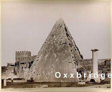 Roman Ruins Photo 1880 Pyramid of Caius Cestuis ANTIQUITY Stone Mason Masonic