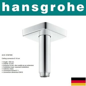 Hansgrohe 27467000 ShowerArm Raindance Ceiling Connector E 100mm w/EscutcheonNIB