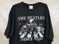 T-Shirt Mens Beatles Black Abbey Road Cotton Sizes NEW