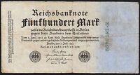 1922 GERMANY 500 MARK BANKNOTE * E 2875499 * gF * P-74b *