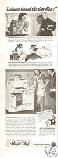 1940 Print Ad of Magic Chef Stove I Almost Kissed The Gas Man!