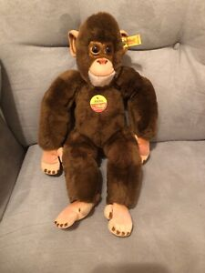 "Steiff ""Jocko"" Chimpanzee 0022/36 West Germany With Tags Attached"