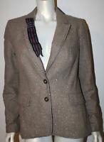 CARTONNIER Metallic Tweed Ribbon Blazer Jacket 10 Frontrunner Anthropologie