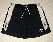 Vintage Umbro Nylon Soccer Shorts Lined Swim Trunks Xl Usa Made Retro Black 🔥