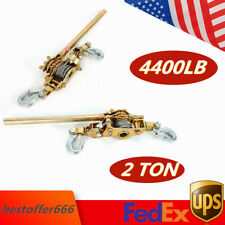 2 Ton Hand Puller Heavy Duty Winch Pull Hoist Come Along 2 Hooks Cable Lever Usa