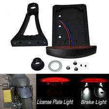 Motorcycle Side Mount License Plate Tail Light Bracket For Honda Shadow Valkyrie