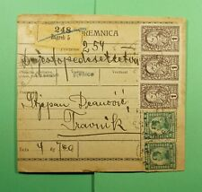 DR WHO 1921 SLOVENIA PARCEL CARD ZAGREB TO TRAVNIK  f45468