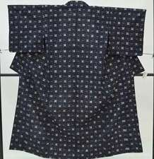 =Japanese Vintage Kimono / Women 56.2inc./ Blue 3nfuji29027